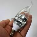 Top Pure daylight cool white E14 led candelabra bulb 3watt LED Chandelier Bulbs 4