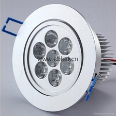 Wholesale 7W High Quality LED Downlight 700lm 85~265V 3Year Warranty CE ROHS