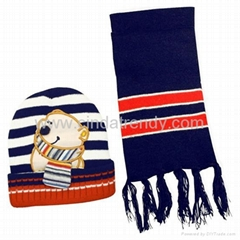 Knit sets beanies and scarf