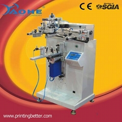 contianer and flat screen printing machine