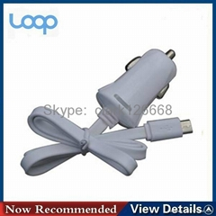 1A/2.1A single car charger with cable