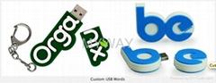 OEM DESIGN customized usb flash drive in PVC