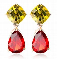 Top Quality Earring Crystal Zinrcon Stone Drop Earrings
