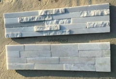 Natural stacked stone panel for wall cladding