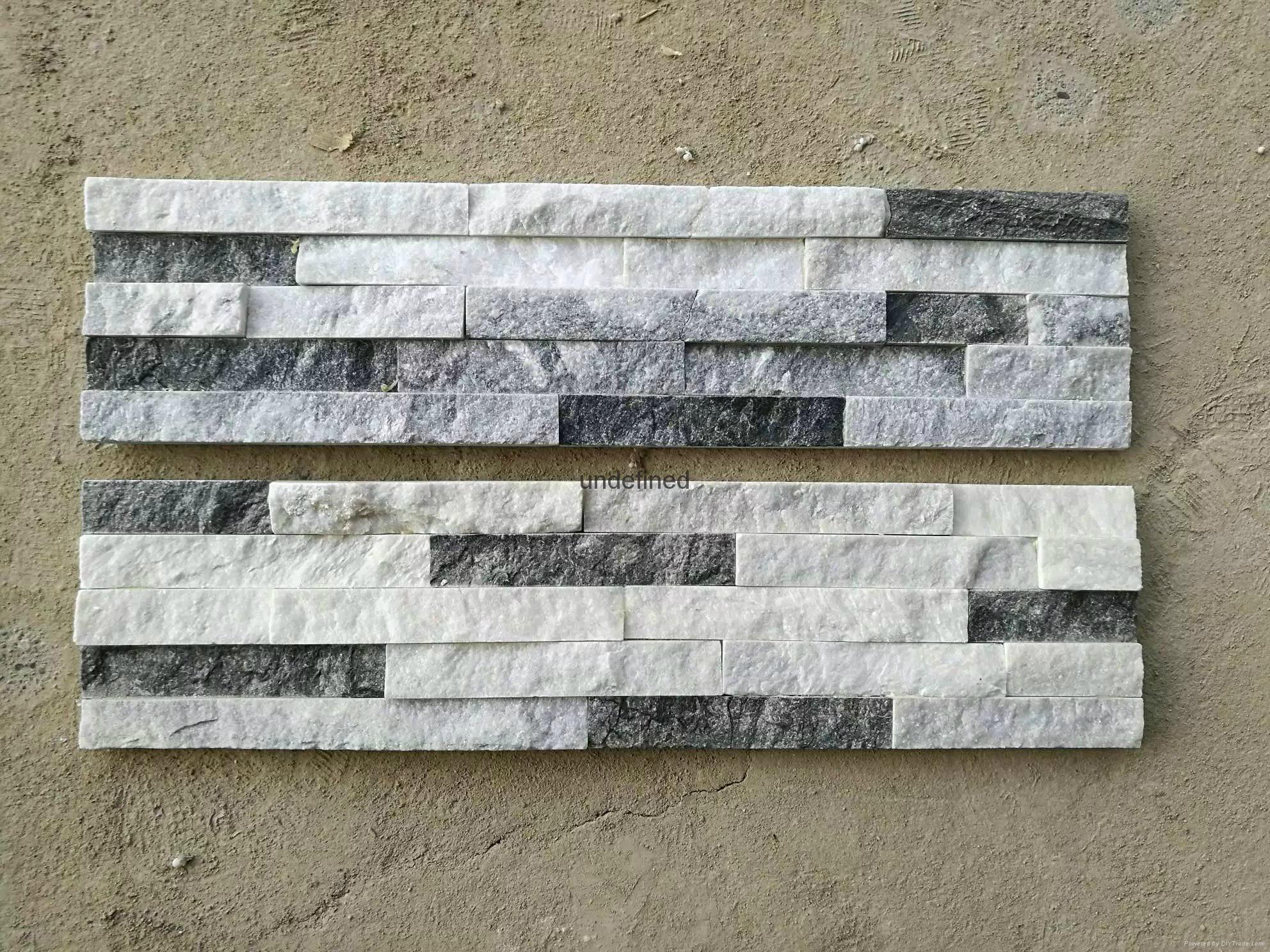 Stone marble granite exterior wall cladding view cladding wall -  Natural Pure White Quartz Stone Wall Cladding 5