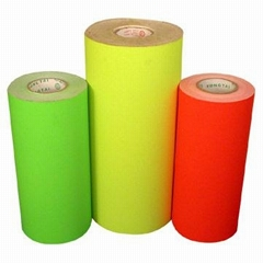 self adhesive fluorescent paper