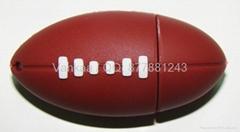 8gb real memory gift silicone football U disk