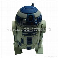 4gb  Cartoon Star Wars droids usb drive USB 2.0 Flash Memory Stick Drive