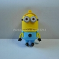 USB Drive 4g yellow people Silicone