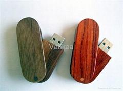 4g bamboo Swivel usb flash drive, gift usb flash drive, OEM promotion usb memory