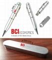 4gb广告圆珠笔U盘 水晶触控笔U盘 2