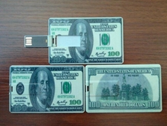 4gb USD money name card usb flash drive,u disk name card memory,gift usb