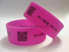 1 inch Silicone Wristband