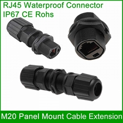 M20 RJ45 waterproof plug Outdoor Interface AP Straight head adapter Connector
