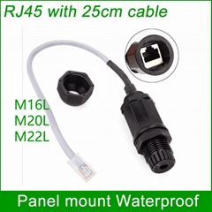 RJ45 waterproof connector Ethernet Interface LAN Network Adapter shielded panel  (Hot Product - 1*)