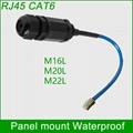RJ45 waterproof connector Ethernet Interface LAN Network Adapter shielded panel  3