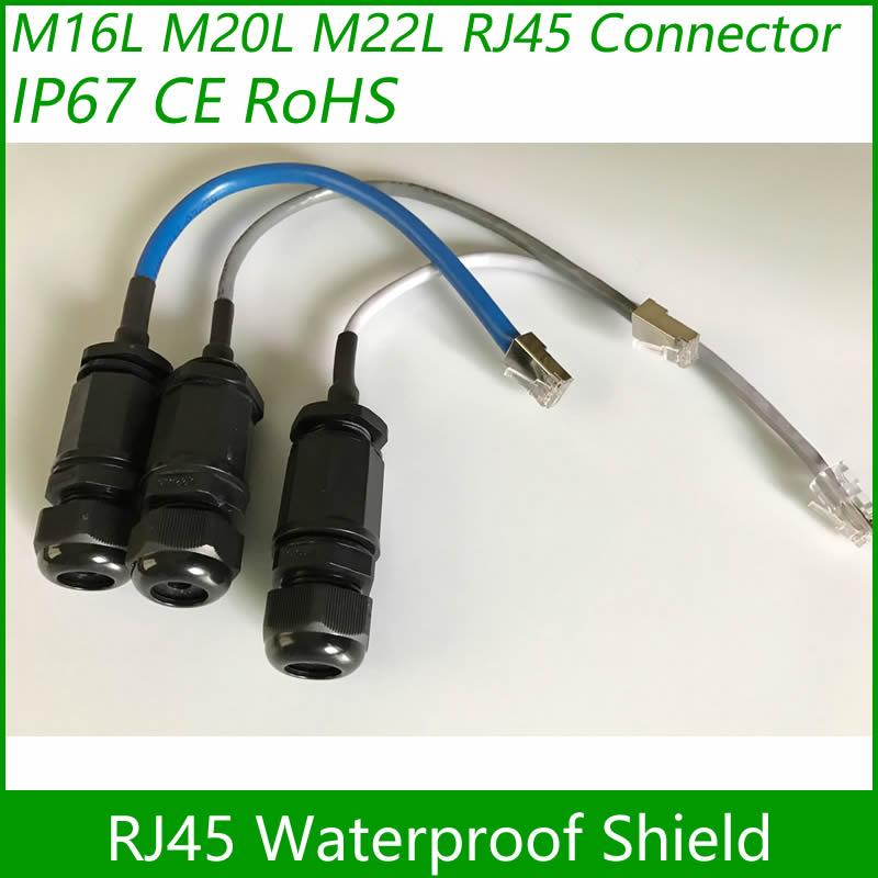RJ45 waterproof connector Ethernet Interface LAN Network Adapter shielded panel  5