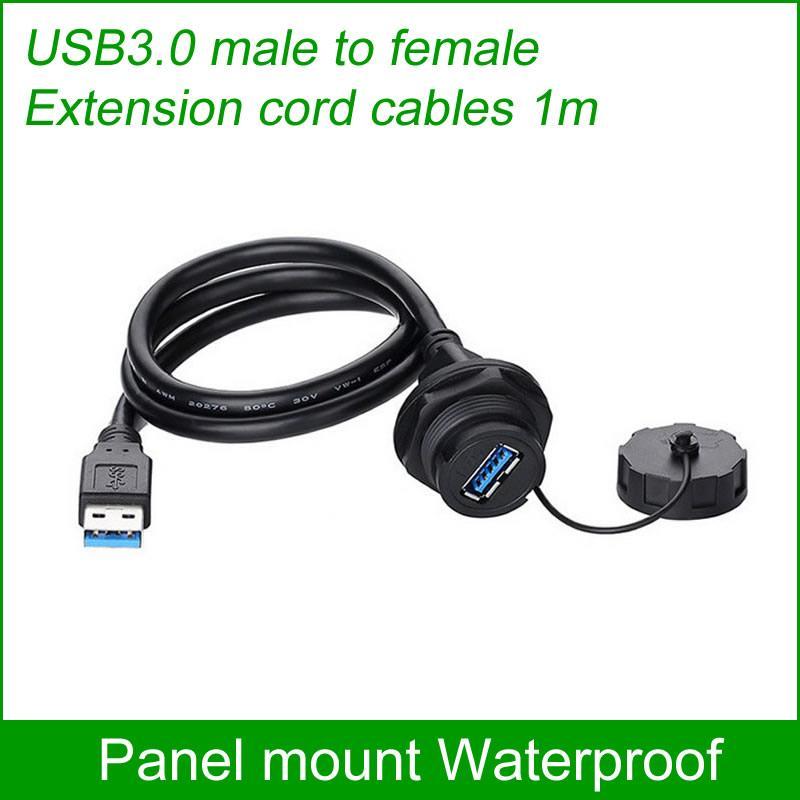 USB female socket plug Panel Mount adapter Waterproof Connector IP67 extension 5