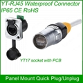 RJ45 plug socket screw type CAT5E waterproof connector panel mount ethernet 2