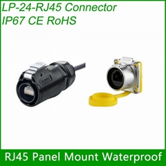Assembly RJ45 Connector CAT5E Female socket with Cover Waterproof RJ45 plug Cabl