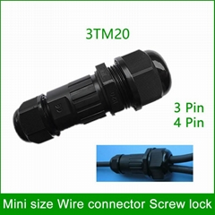 3 way Waterproof Electrical Cable Connectors Wire terminals for LED strip