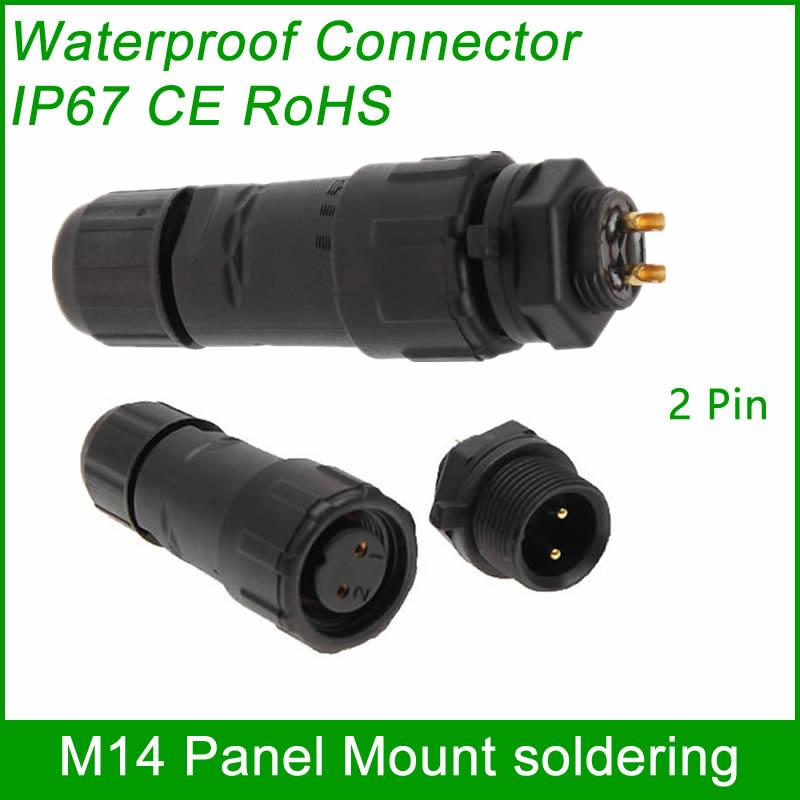 M14 waterproof Connector cable male female plug IP67 led outdoor wire socket Pan 6