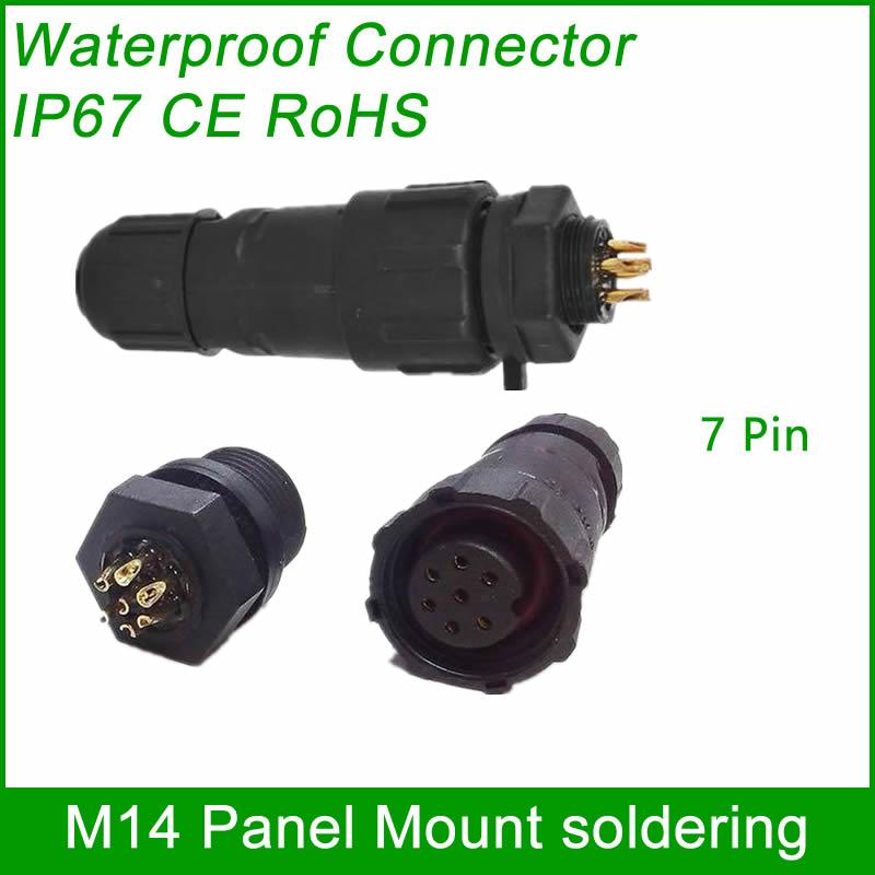 M14 waterproof Connector cable male female plug IP67 led outdoor wire socket Pan 11