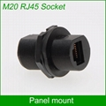 panel mount M20 RJ45 AP box female to