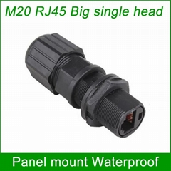 panel mount M20 RJ45 AP box fixed adapter waterproof connector