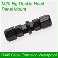 M20 RJ45 double head IP67 rated outdoor