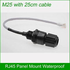Ethernet LAN RJ45 Waterproof Connector with 25cm Cable AP box plug
