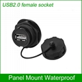 USB2.0 female socket plug Panel Mount