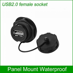 USB2.0 female socket plug Panel Mount adapter Waterproof Connector IP67 (Hot Product - 1*)