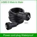 USB2.0 female socket plug Panel Mount adapter Waterproof Connector IP67 5