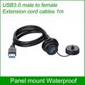 usb3.0 panel mount socket water resistant IP 67 connector 2