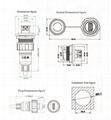 usb3.0 panel mount socket water resistant IP 67 connector 6