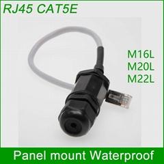 CAT5E RJ45 waterproof connector Ethernet Interface LAN Network Adapter shielded