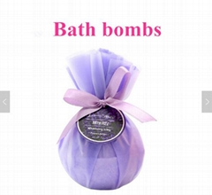 Ball Shape and All  Natural Ingredients Bath Bombs Accept Logo Bath Fizzy  Bombs