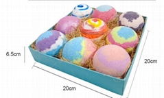 Premium Bath Bombs Gift Set -9 Pack of Spa Bath Fizzies with Organic &