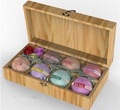 wooden box Bath Bomb Gift Set Kit Best bath fizzy bombs