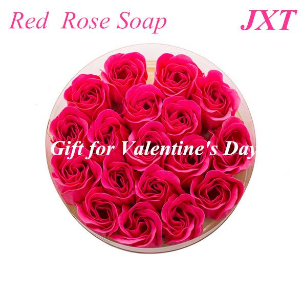 Soap Flower Rose in Gift Box   Wedding Decoration Party Gift Body Bath Soap Rose 1