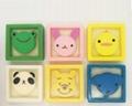 Kids square shape animal cartoon