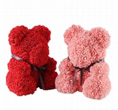 2018 Handmade Soap Flower Teddy Bear For Valentines Day Gifts