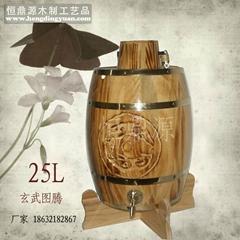 木质酒桶25L