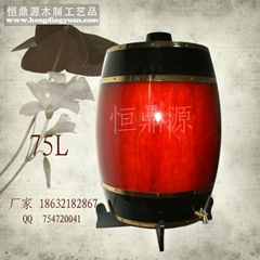 Stone the Zhuang Hengding source wooden cask factory wooden barrels