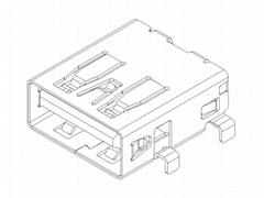 USB 3.0 AF STD DIP CH=2.2