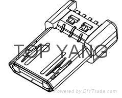 正反插Micro USB 2.0 B Type Plug 2