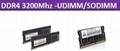 DDR4 3200Mhz-UDIMM/SODIMM