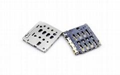 MICRO SIM 卡座连接器 PUSH/PUSH 1.29H