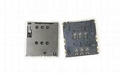 Push Push Mirco SIM 卡座連接器 1.42